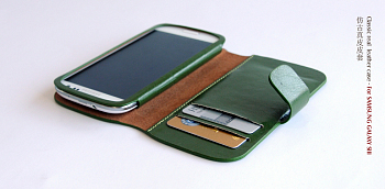 Чехол BOROFONE Classic leather case for Samsung Galaxy S3(i9300) Green