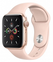 Смарт-часы Apple Watch Series 5 GPS 40mm (MWV72) Gold Aluminum Case with Pink Sport Band