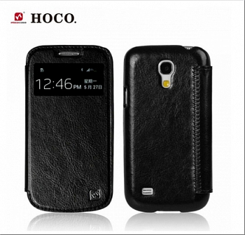 Чехол HOCO Crystal View series Leather case для Samsung Galaxy S4 Mini i9190/i9192/i9195 Black
