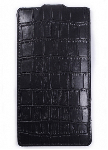 Чехол Melkco Leather Case for Sony Xperia ZL Jacka Type Crocodile Print (Black LC)