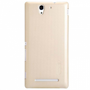 Чехол Nillkin Super Frosted Shield для Sony Xperia C3 D2502/D2533 Gold
