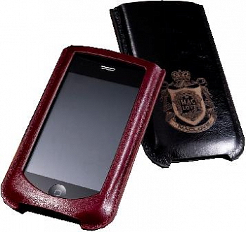 MacLove Leather Case Lucca Wine Red for iPhone 4