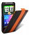 Чехол Melkco  HTC Sensation  Black/Orange LC