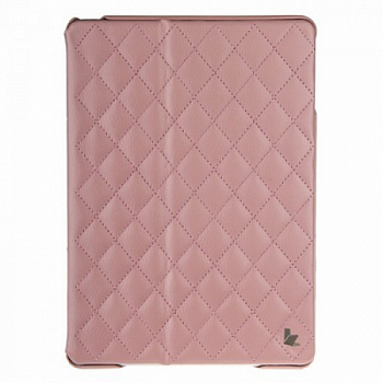 Чехол JisonCase Smart Leather Case Premium Edition для IPad Air со стёганым узором  Pink
