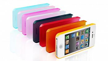 Чехол-накладка NUOKU для IPhone 5 Fresh Series Soft-touch Color Cover черный