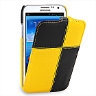 Чехол TETDED Premium Leather Case для Samsung Galaxy Note 2 N7100 / N7108 Troyes Plutus: Yellow/Black