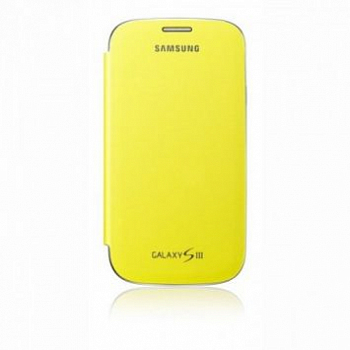 Чехол Flip Cover для Samsung i9300 Galaxy S III Yellow
