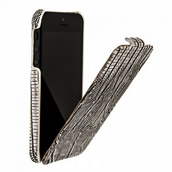 Чехол BOROFONE Lizard flip Leather Case for IPhone 5 Gray