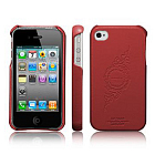 Чехол SGP Leather Grip infinity Red for iPhone 4