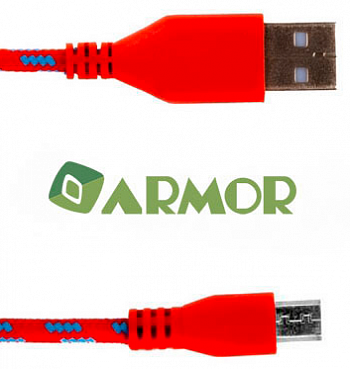 Кабель Armor Micro USB 1m Red