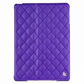 Чехол JisonCase Smart Leather Case Premium Edition для IPad Air со стёганым узором Purple