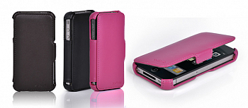 Чехол  X-DORIA Business Leather Case  for IPhone 4  Pink