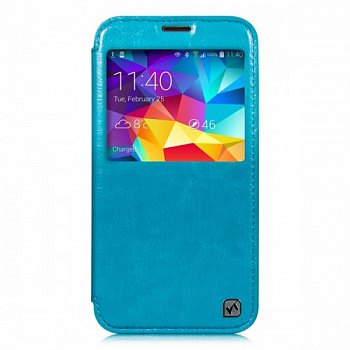 Чехол Hoco Crystal Series Leather case for Samsung Galaxy S5 G900 Blue