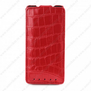 Чехол Melkco Leather Case для HTC One M7 Jacka Type Crocodile Red LC