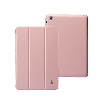 Чехол JisonCase Smart Leather Case Premium Edition для iPad mini Pink