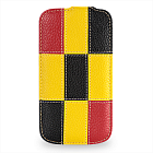 Чехол TETDED Premium Leather Case для Samsung Galaxy S4 / IV / I9500 / I9505 / Active I9295 i537 Troyes Matrix: Yellow01