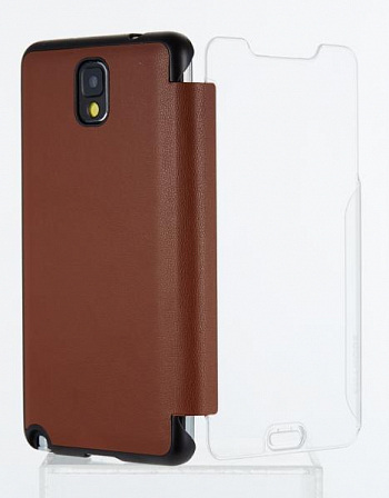 Чехол Anymode Touch Folio + защ.пленка F-DATF000RBR для Samsung Galaxy Note 3 N9000/N9005 Brown