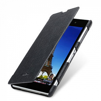 Чехол Melkco Premium Face Cover для Sony Xperia Z1 Black
