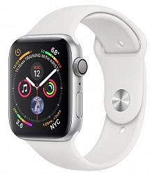 Смарт-часы Apple Watch Series 4 GPS 44mm (MTUU2) Silver Aluminum Case with White Sport Band
