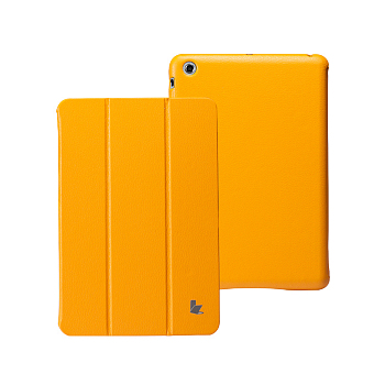 Чехол JisonCase Smart Leather Case Premium Edition для iPad mini Yellow