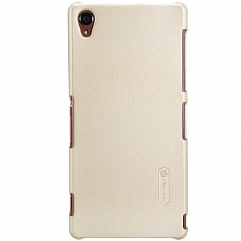 Чехол Nillkin Super Frosted Shield для Sony Xperia Z3 D6603/D6633 Gold