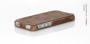 Чехол BOROFONE Colonel leather case for IPhone 5 Light Coffee