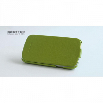 Чехол Hoco для Samsung GT-i9300 Galaxy S III Leather case Green