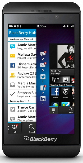 BlackBerry Z10 + 4G Black