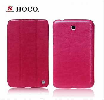 Чехол HOCO Crystal Series Leather Case для Samsung Galaxy Tab3 7.0 T210/T2110 Rose Red