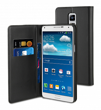 Чехол Muvit Wallet Folio для Samsung Galaxy Note 4 octa core N910 Black