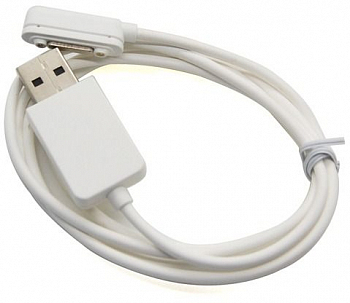 Кабель USB магнитный для Sony Xperia Z1/Z2/Z3 (Magnetic charging cable) White