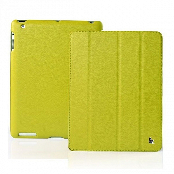 Чехол JisonCase Smart Leather Case для IPad 4 / IPad 3 / IPad 2 Green