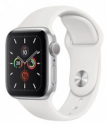 Смарт-часы Apple Watch Series 5 GPS 44mm (MWVD2) Silver Aluminum Case with White Sport Band