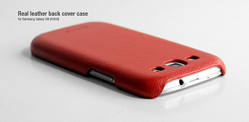 Чехол Hoco Real Leather back cover case for Samsung I9300 Red