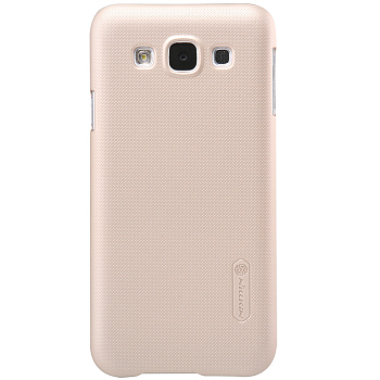 Чехол Nillkin Super Frosted Shield для Samsung Galaxy E5 E500H Gold
