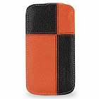 Чехол TETDED Premium Leather Case для Samsung Galaxy S4 / IV / I9500 / I9505 / Active I9295 i537 Troyes Plutus: Orange/Black