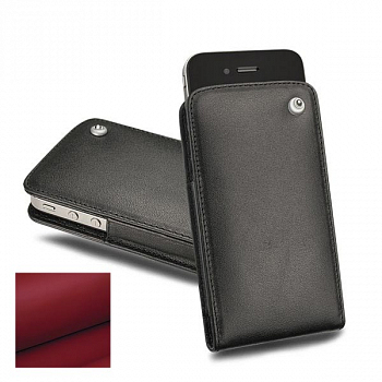 Noreve Housse Cuir Tradition C Rouge Red for iPhone 4