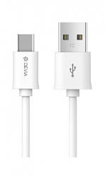 Кабель Devia Smart Cable Type-C 1m White