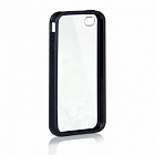 Бампер X-DORIA Dual material case  for iphone 4 Black