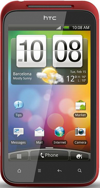 HTC Incredible S + 8 GB  Red