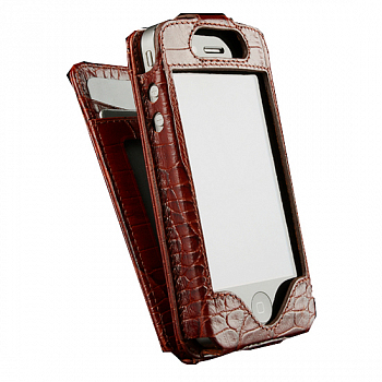Sena WalletSkin Croco Tan for iPhone 4