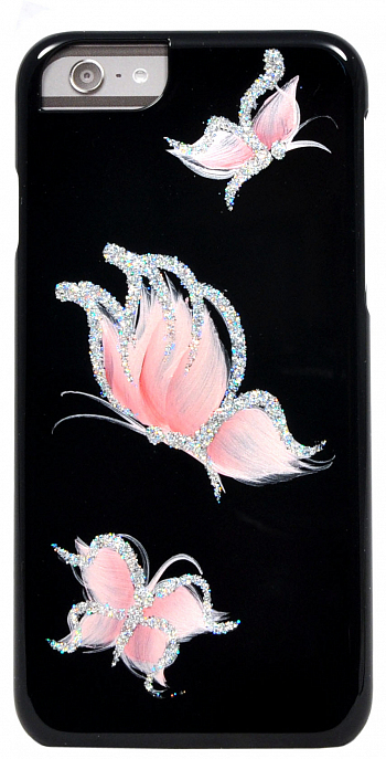 Накладка iCover для iPhone 6 4.7 Pure Butterfly Black/Pink