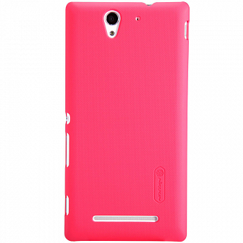 Чехол Nillkin Super Frosted Shield для Sony Xperia C3 D2502/D2533 Red