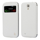 Чехол JisonCase Smart Leather Case для Galaxy S4 i9500 Book Type White