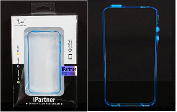 Чехол  Voorca  for IPhone 4 Bumper case black blue