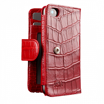 Sena WalletBook Croco Red for iPhone 4