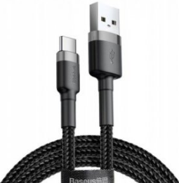 Кабель Baseus Cafule Cable Type C 3A 200cm (catclf-cg01) Black