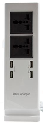 LA USB Power Adapter 4 USB, 6.8A