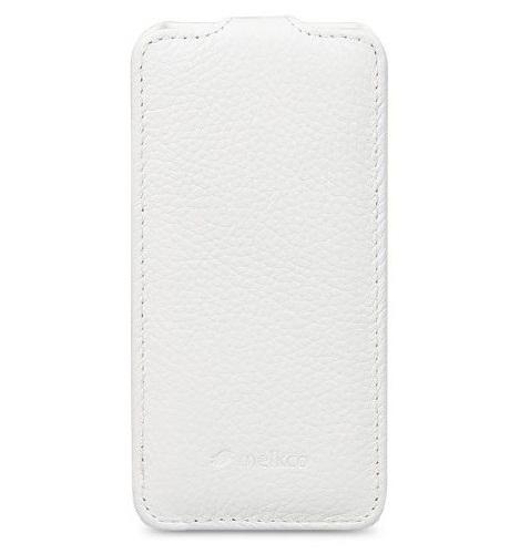 Melkco Leather Case for Nokia Lumia 520 Jacka Type (White LC)