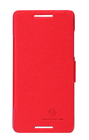 Nillkin Fresh series leather case для HTC New One M8 Red